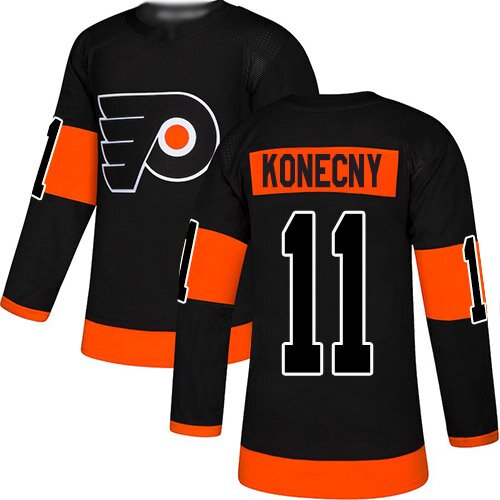 Youth Philadelphia Flyers #11 Travis Konecny Reebok Orange New Third Premier NHL Jersey