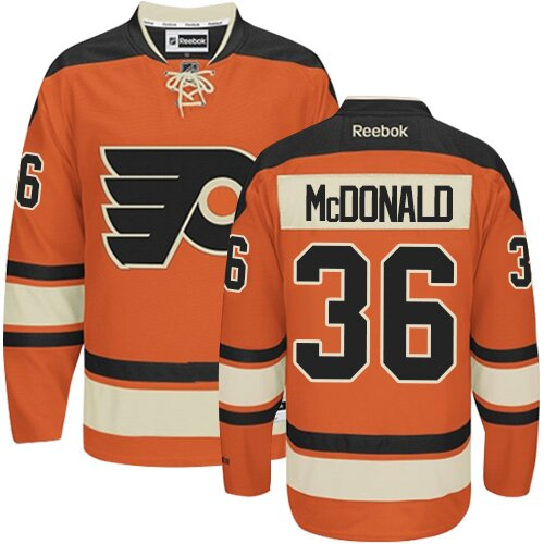 Youth Philadelphia Flyers #36 Colin McDonald Reebok Orange New Third Authentic NHL Jersey