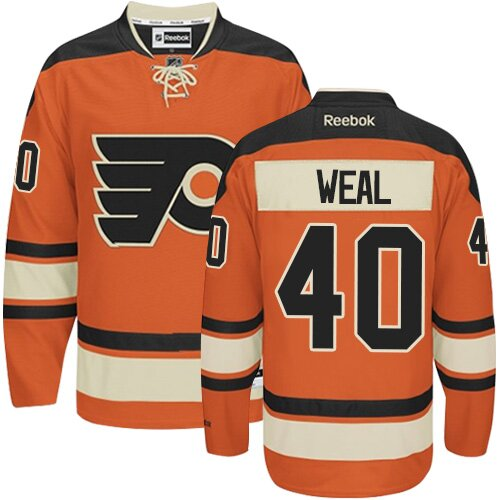Men's Philadelphia Flyers #40 Jordan Weal Black Alternate Authentic Hockey Jersey