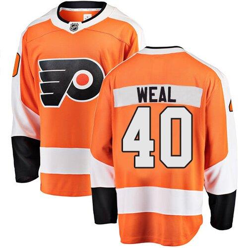 Youth Philadelphia Flyers #40 Jordan Weal Fanatics Branded Orange Home Breakaway Hockey Jersey