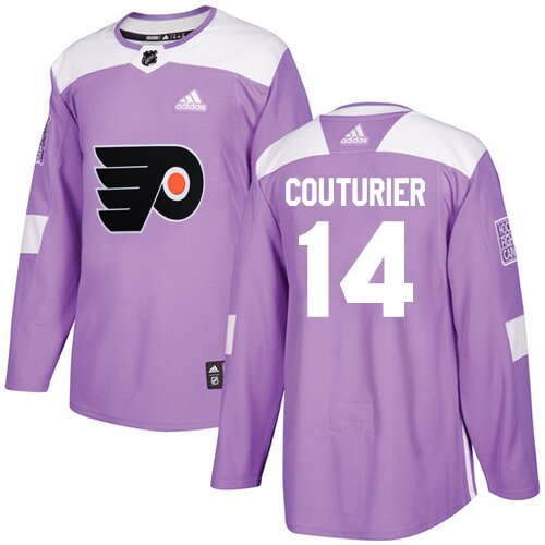 Youth Philadelphia Flyers #14 Sean Couturier Adidas Purple Authentic Fights Cancer Practice NHL Jersey