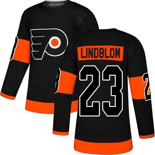 Men's Philadelphia Flyers #23 Oskar Lindblom Black Alternate Premier Hockey Jersey