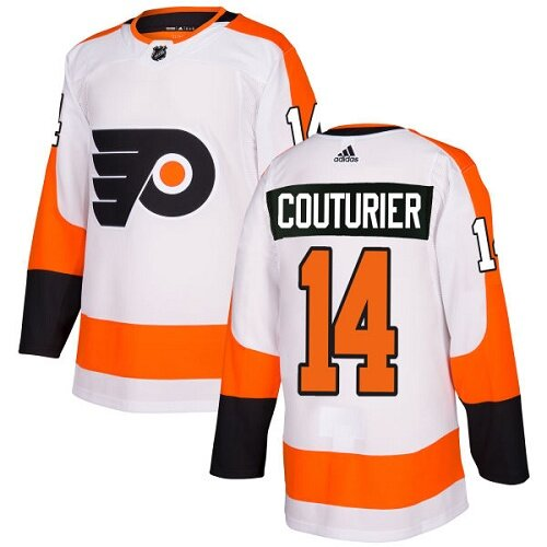 Men's Philadelphia Flyers #14 Sean Couturier White Away Authentic Hockey Jersey