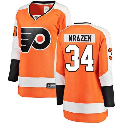 9079d366 Women's Philadelphia Flyers #34 Petr Mrazek Fanatics Branded Orange Home  Breakaway NHL Jersey