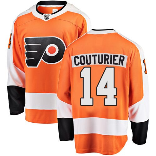 Men's Philadelphia Flyers #14 Sean Couturier Fanatics Branded Orange Home Breakaway Hockey Jersey