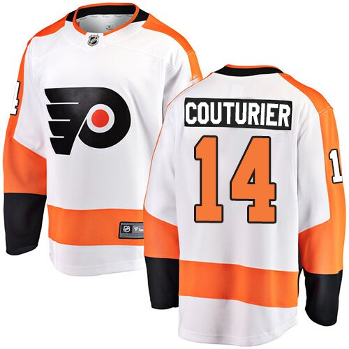 Men's Philadelphia Flyers #14 Sean Couturier Fanatics Branded White Away Breakaway NHL Jersey