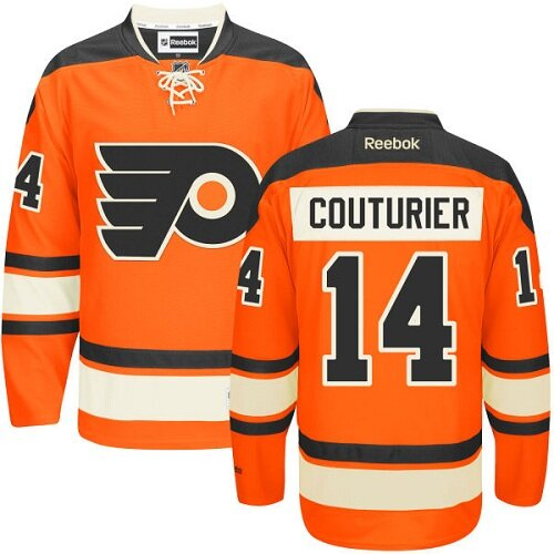 Men's Philadelphia Flyers #14 Sean Couturier Black Alternate Authentic Hockey Jersey