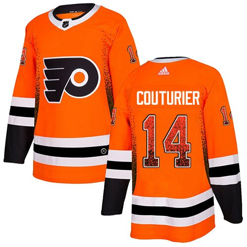 Men's Philadelphia Flyers #14 Sean Couturier Orange Authentic Drift Fashion Hockey Jersey