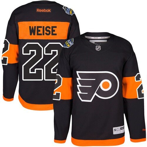 Men's Philadelphia Flyers #22 Dale Weise Reebok Black Premier 2017 Stadium Series NHL Jersey