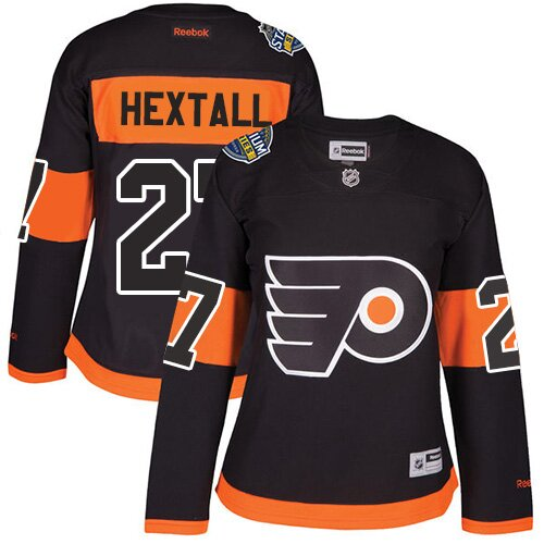 Women's Philadelphia Flyers #27 Ron Hextall Reebok Black Premier 2017 Stadium Series NHL Jersey