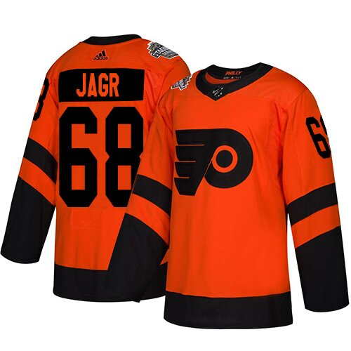 Youth Philadelphia Flyers #68 Jaromir Jagr Orange Authentic 2019 Stadium Series Hockey Jersey