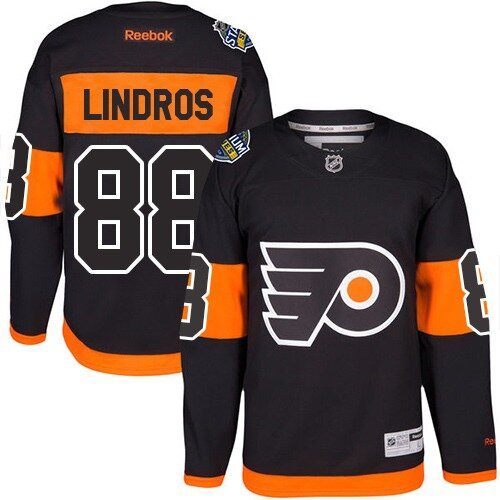 Youth Philadelphia Flyers #88 Eric Lindros Reebok Black Premier 2017 Stadium Series NHL Jersey