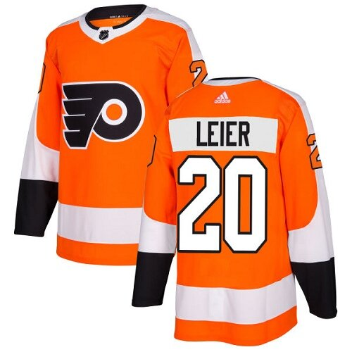 Youth Philadelphia Flyers #20 Taylor Leier Orange Home Authentic Hockey Jersey