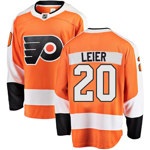 Youth Philadelphia Flyers #20 Taylor Leier Fanatics Branded Orange Home Breakaway Hockey Jersey