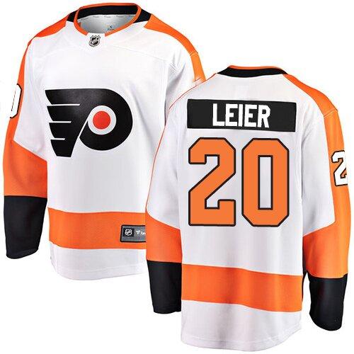 Youth Philadelphia Flyers #20 Taylor Leier Fanatics Branded White Away Breakaway Hockey Jersey