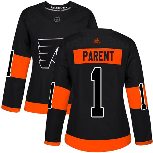 Women's Philadelphia Flyers #1 Bernie Parent Black Alternate Premier Hockey Jersey