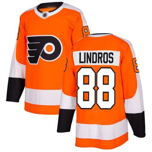 Youth Philadelphia Flyers #88 Eric Lindros Adidas Orange Home Authentic NHL Jersey