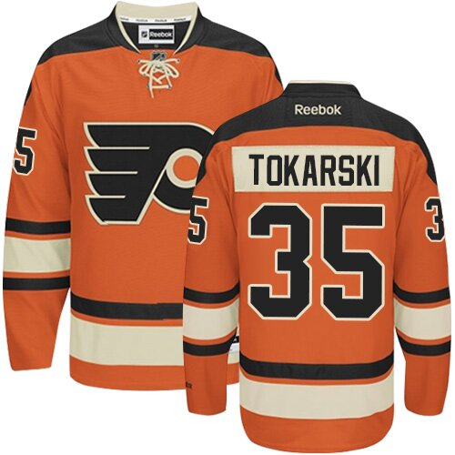 Men's Philadelphia Flyers #30 Dustin Tokarski Reebok Orange New Third Authentic NHL Jersey